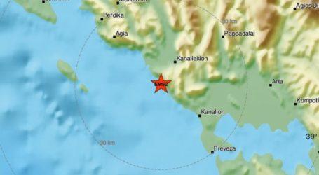 Σεισμική δόνηση 4,5R νοτιοανατολικά της Πάργας