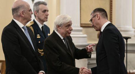 Δεξίωση προς τιμήν του Διπλωματικού Σώματος παρέθεσε ο Παυλόπουλος