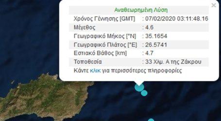 Νέα σεισμική δόνηση 4,6R ανοικτά της Κρήτης