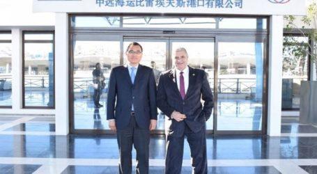 Συνάντηση Πατούλη με τον πρόεδρο του ΟΛΠ, Γιου Ζενγκάνγκ