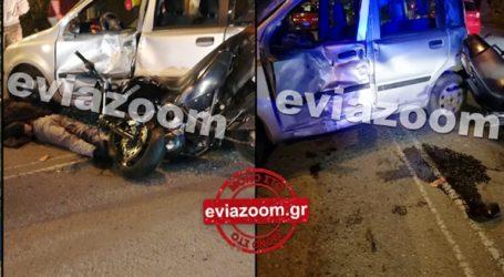 Σφοδρή σύγκρουση οχημάτων στην Χαλκίδα