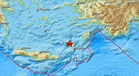 Σεισμός 4,8 Ρίχτερ στα ανοιχτά της Καρπάθου