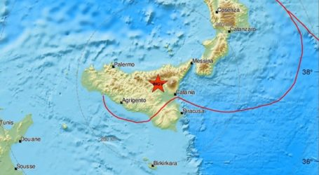 Σεισμική δόνηση 2,1R στη Σικελία
