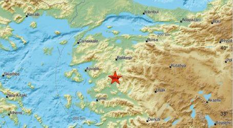 Σεισμική δόνηση 5,2R στη δυτική Τουρκία