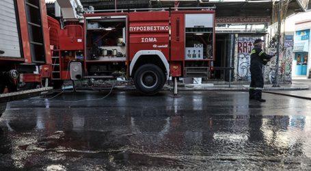 Φωτιά σε ακατοίκητο κτήριο στην Αλεξάνδρας