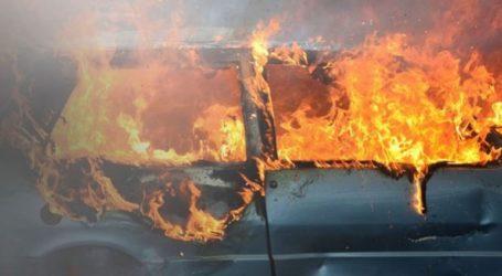 Χανιά: Αυτοκίνητο «λαμπάδιασε» εν κινήσει