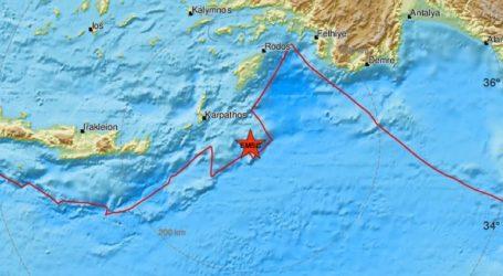 Σεισμός 4 Ρίχτερ κοντά στην Κάρπαθο