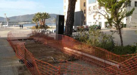Βόλος: Ξηλώθηκε το κοντέινερ από το πάρκο του Αγ. Κωνσταντίνου [εικόνες]