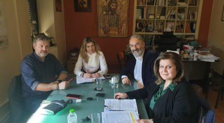 Τον Δήμαρχο Αγιάς Αντώνη Γκουντάρα συνάντησε ο πρόεδρος της ΑΕΝΟΛ Λευτέρης Φουρκιώτης