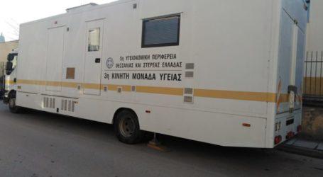 Συμμετοχή του πληθυσμού Ρομά στις προληπτικές εξετάσεις των κινητών μονάδων της 5ης ΥΠΕ