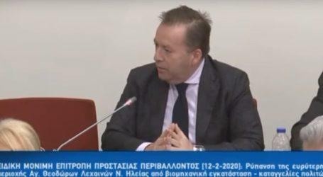 Στην Επιτροπή Περιβάλλοντος της βουλής φέρνει τη μόλυνση του Τιταρήσιου ο Κόκκαλης