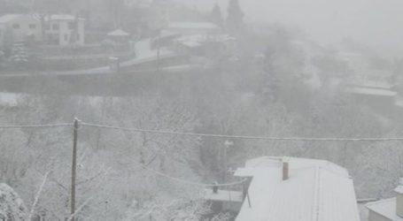 Λάρισα: Φουλ του… χιονιού στην Σπηλιά Κισσάβου (φωτο – βίντεο)