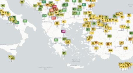 «Στο κόκκινο» η αέρια ρύπανση στον Βόλο – Τι δείχνουν online στοιχεία [εικόνες]