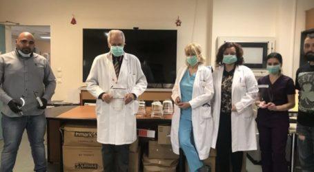 Παράδοση πρώτης παρτίδας ασπίδων προστασίαςστο Πανεπιστημιακό Νοσοκομείο Λάρισας