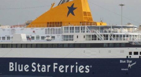 Σε κατ΄οικον περιορισμό οι 127 επιβάτες του «Blue Star Μύκονος»