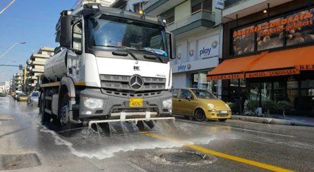 Καθημερινή απολύμανση σε όλους τους δρόμους του Βόλου