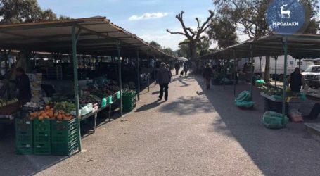 Επέμβαση της αστυνομίας για τη διακοπή λειτουργίας λαϊκής αγοράς