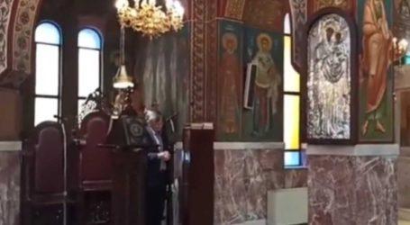 Ο Σωτήρης Τσιόδρας έψαλλε στη Θεία Λειτουργία της Σταυροπροσκυνήσεως
