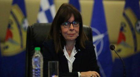 Η Κατερίνα Σακελλαροπούλου θα καταθέσει το ήμισυ του μισθού της για τους επόμενους δύο μήνες