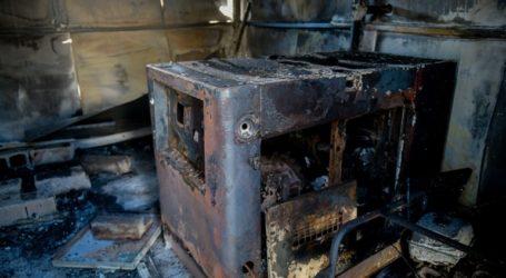 Πυρκαγιά κατέστρεψε τις εγκαταστάσεις ΜΚΟ έξω από τον καταυλισμό της Μόριας
