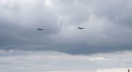 Ζεύγος μαχητικών F16 και ελικοπτέρων «έσκισε» τον ουρανό του Βόλου [βίντεο]