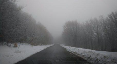 Χιόνι και τσουχτερό κρύο στο Πήλιο – Δείτε βίντεο