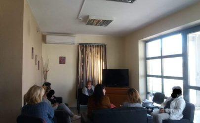 Ενημερωτική συνάντηση στον Ξενώνα Αστέγων Βόλου για τον κορωνοϊό