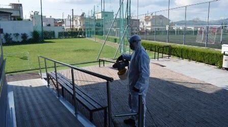 Προληπτική απολύμανση σε αθλητικούς χώρους του Βόλου [εικόνες]
