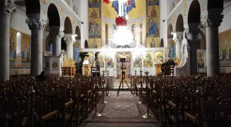 Βόλος: Κεκλεισμένων των θυρών η Ακολουθία των Χαιρετισμών στον Αγ. Κωνσταντίνο [εικόνες]