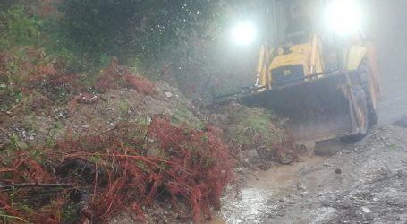 Καταρρακτώδης βροχή, κατολισθήσεις και ζημιές για δεύτερη μέρα στο Πήλιο [εικόνες]