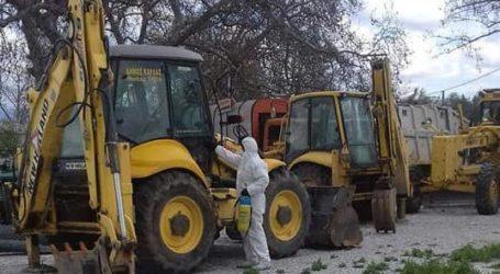 Απολυμάνθηκαν τα οχήματα του Δήμου Ρήγα Φεραίου