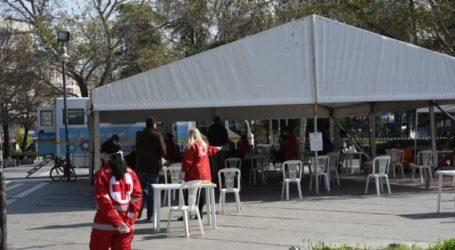Λαρισαίοι δίνουν αίμα για δεύτερη ημέρα στην Κεντρική πλατεία (φωτο)