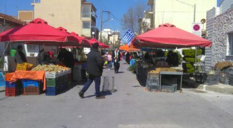 Συνωστισμός στη σημερινή λαϊκή αγορά της Ν. Ιωνίας