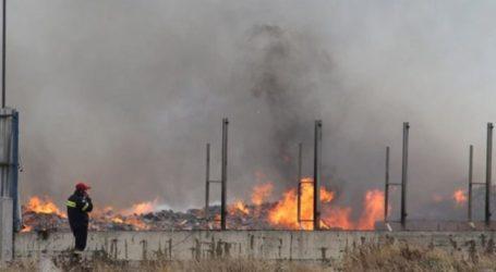 Πυκνοί καπνοί έξω από την Λάρισα: Φωτιά σε χώρο ανακύκλωσης