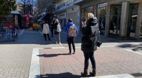Κορωνοϊός: Η…ουρά από Λαρισαίες έξω από τα Hondos Center! (φωτό)