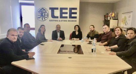 Επίσκεψη βουλευτή του ΜέΡΑ25, Φ. Μπακαδήμου στο ΤΕΕ
