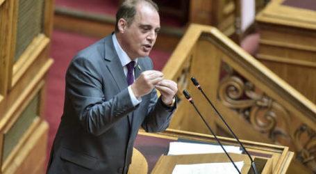 Στη Βουλή από τον Κ. Βελόπουλο η ατμοσφαιρική ρύπανση στον Βόλο