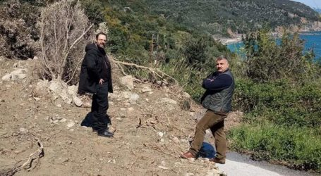 Επίσκεψη του βουλευτή Κων. Μαραβέγιαστις πληγείσες περιοχές του Δήμου Νοτίου Πηλίου