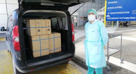 Βόλος: 4.000 μάσκες παραδόθηκαν από την ΟΕΒΕΜ στο Νοσοκομείο [εικόνες]