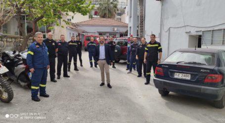 Ο Κ. Μαραβέγιας στις φυλακές Κασσαβέτειας και την Πυροσβεστική Υπηρεσία Βόλου