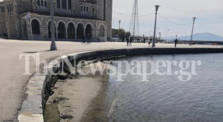Βόλος: Δημιουργήθηκε αμμουδιά μπροστά από τον Άγιο Κωνσταντίνο – Δείτε εικόνες
