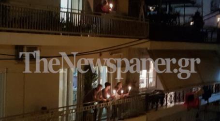 Συγκίνηση: Με λαμπάδες στα μπαλκόνια και ψαλμωδίες οι Βολιώτες γιόρτασαν την Ανάσταση – Δείτε φωτορεπορτάζ