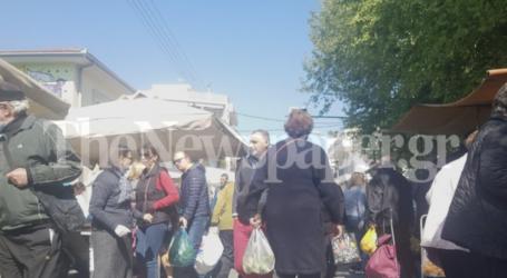 Ξέχασαν τον κορωνοϊό οι Βολιώτες – Ξεχύθηκαν στη λαϊκή αγορά για ψώνια [εικόνες]