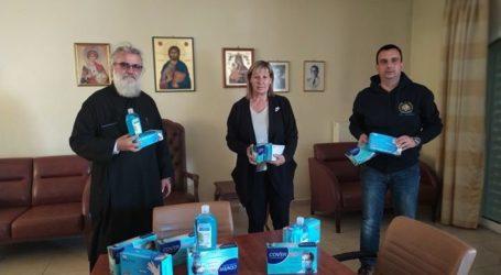 Προσφορά υγειονομικού υλικού στο Ορφανοτροφείο και το Γηροκομείο της Ιεράς Μητρόπολης Λαρίσης και Τυρνάβου