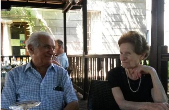 Ο παππούς Μικελάντζελο με τη γυναίκα του πριν από έναν χρόνο