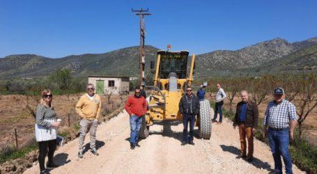 Ξεκίνησε το έργο αγροτικής οδοποιίας στο Πουρνάρι του δήμου Τεμπών