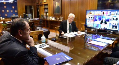 Συμμετοχή του Ν. Παναγιωτόπουλου στην Άτυπη Σύνοδο των Υπουργών Άμυνας της Ε.Ε. μέσω τηλεδιασκέψεως