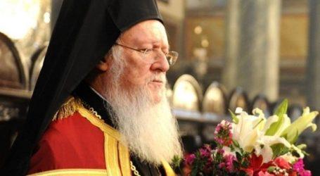 Δέηση του Οικουμενικού Πατριάρχη για την προστασία της ανθρωπότητας από τον κορωνοϊό
