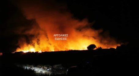 Μεγάλη πυρκαγιά στο Άργος