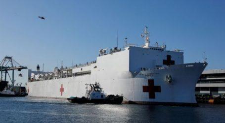 Επτά κρούσματα μεταξύ του ιατρονοσηλευτικού προσωπικού σε πλοίο-νοσοκομείο που στάλθηκε στο Λος Άντζελες